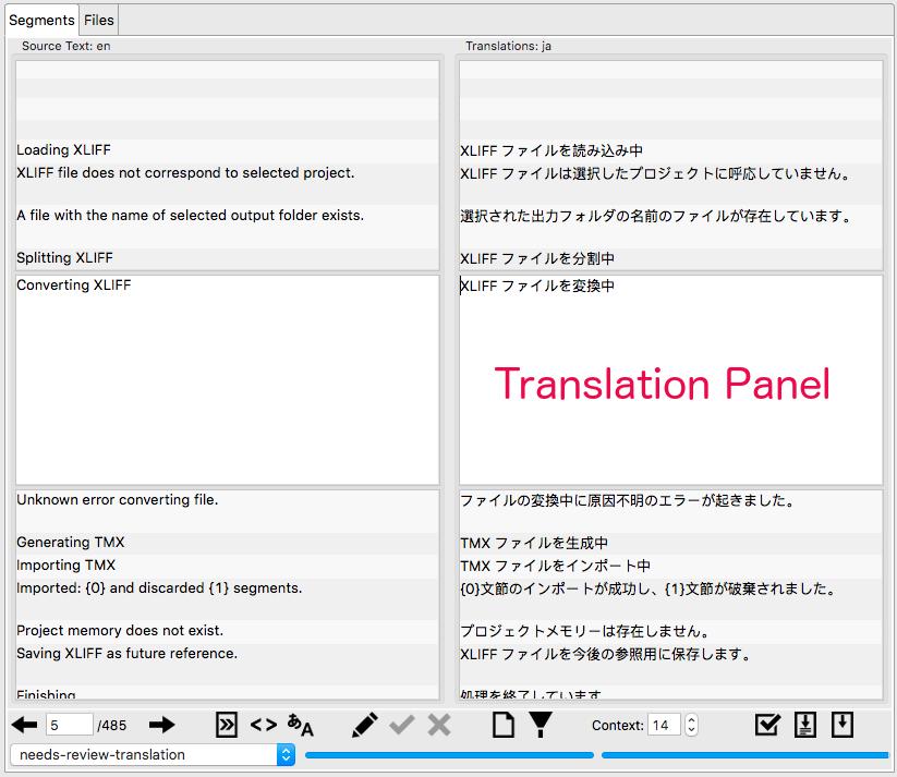 Translation Panel