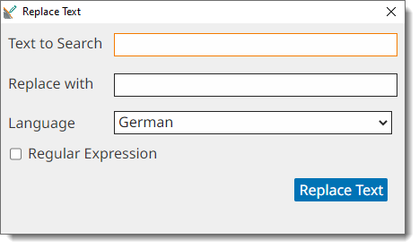 Search & Replace Text